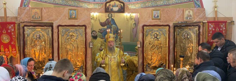 Архієпископ Нафанаїл освятив новозбудований храм в селі Олексіївка