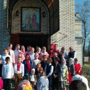 Великодні вітання від наймолодших парафіян храму святих апостолів Петра і Павла с. Підцир'я