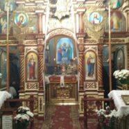 Пасхальне богослужіння в храмі святих апостолів Петра і Павла с. Підцир'я