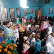 Молитва перед початком навчального року в с. Підріччя