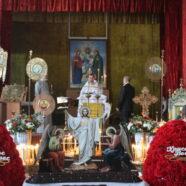 Вечірня першого дня Пасхи в тимчасовому храмі святого пророка Іллі м. Каменя-Каширського